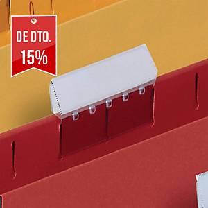 Pack 25 visores superiores para pastas suspensas Lyreco Premium