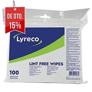 Pack de 100 panos multiúsos Lyreco - material não tecido