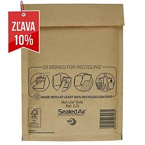Bublinková obálka SealedAir Mail Lite® Gold, 150 x 210 mm, hnedá, 100 kusov