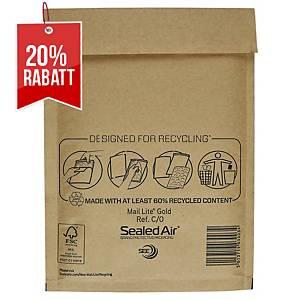 SealedAir Mail Lite® Luftpolstertasche Gold, 150 x 210 mm, braun, 100 Stück