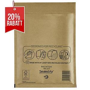 SealedAir Mail Lite® Luftpolstertasche Gold, 180 x 260 mm, braun, 100 Stück