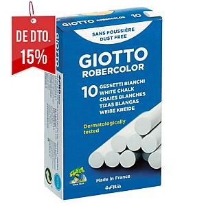 Caixa 10 gizes brancos antipó Robercolor