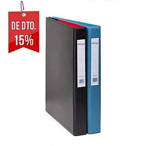 Dossier Pardo - fólio - 2 argolas - lombada 40 mm - azul