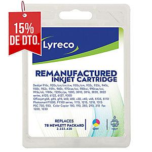 Cartucho de tinta LYRECO tricolor compatible con HP 78 para DeskJet 3820