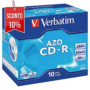 CD-R Verbatim 700 MB 80 min jewel case - conf. 10