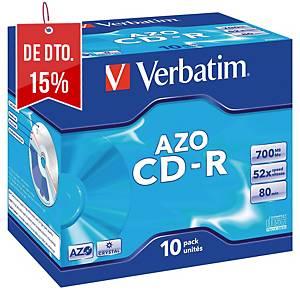 Caixa de 10 CD-R Verbatim - 700 MB