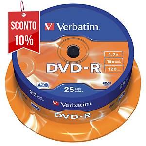 DVD-R Verbatim 4.7 GB 120 min spindle - conf. 25