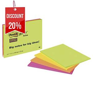Post-it 6845SSP Super Sticky meeting notes XXL 149x200 mm - pack of 4