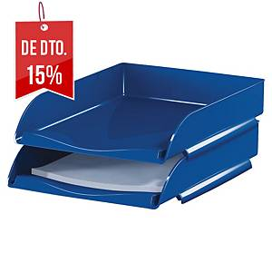Tabuleiro de secretária Lyreco - poliestireno - azul