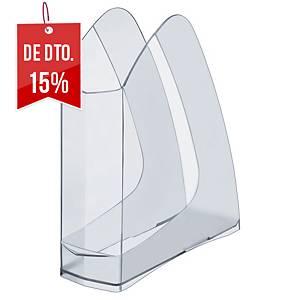 Porta-revistas Lyreco - lombada 75 mm - transparente