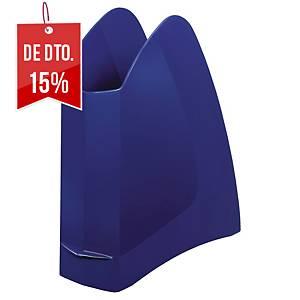 Porta-revistas Lyreco - lombada 75 mm - azul