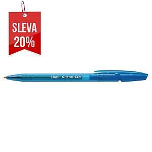 Pero Bic Cristal Clic, klikací kuličkové, 1,0 mm, modré