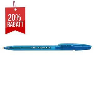 Kugelschreiber BIC Cristal Clic Einweg Druckmechanik 1.0mm blau