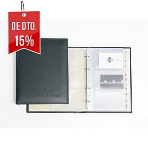 Porta-cartões Pardo - 140 x 230 mm - 120 cartões - preto