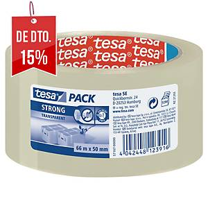 Fita adesiva de embalar Tesa 57167 - 50 mm x 66 m - transparente