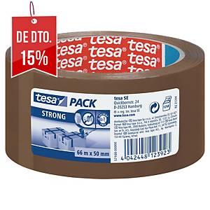 Fita adesiva de embalar Tesa 57167 - 50 mm x 66 m - castanho