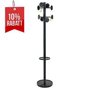 Garderobenständer Alba PMStan3n, Höhe: 175cm, Kunststoff, schwarz