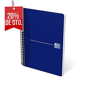 Cuaderno 80 hojas espiral simple azul formato 4º cuadriculado Oxford Essentials