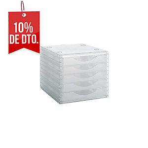 Archivo modular c/5 cajones cristal translúcido ARCHIVOTEC SERIE 4000