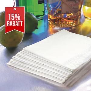 Servietten Duni, Maße: 24 x 24cm, 2-lagig, weiß, 300 Stück