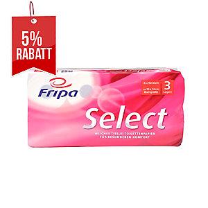Toilettenpapier Fripa Select, 3-lagig, 250 Blatt, weiß, 8 Stück