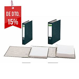 Dossier Elba com papel listado perfurado - 4 argolas - lombada 75 mm - preto