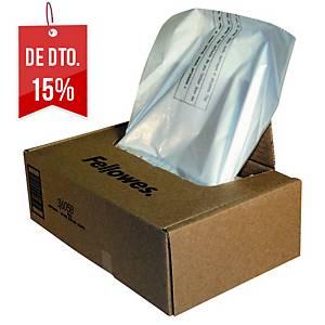 Pack de 50 sacos para destruidora de papel Fellowes - 121-143 L
