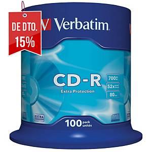 Bobina de 100 CD-R Verbatim - 700 MB