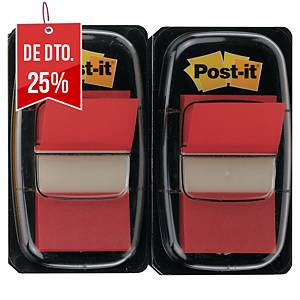 Pack 2 dispensadores de 50 Post-it Index médios - vermelho