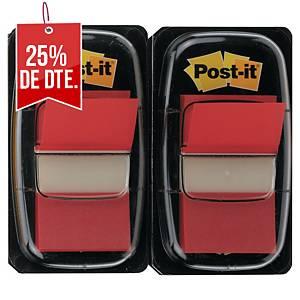 Pack de 2 dispensadores de 50 Post-it Index medianos - rojo