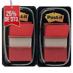 Pack de 2 dispensadores de 50 Post-it Index medianos - rojo