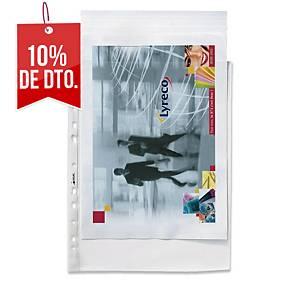 Pack de 100 fundas multitaladro Esselte - folio - PP rugoso - 55 μ