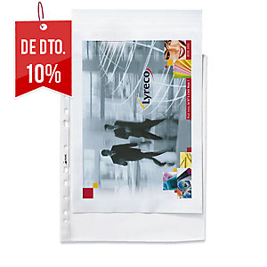 Pack 100 bolsas de plástico friso perfurado transparente 55microns ESSELTE