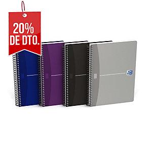 Cuaderno 80 hojas espiral colores formato folio cuadriculado Oxford Essentials