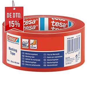 Fita de sinalização adesiva Tesa - 50 mm x 33 m - vermelho