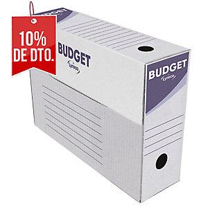 Pack de 50 cajas de archivo definitivo Lyreco - folio - lomo 100 mm - blanco