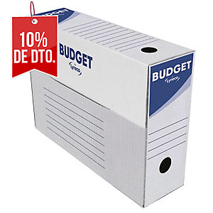 Pack 50 cajas archivo definitivo Lyreco - folio prolongado -lomo 100 mm - blanco