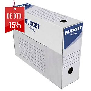 Pack 50 caixas arquivo morto Lyreco - fólio prolongado - lombada 100 mm - branco