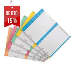 Pack 10 folhas visor lateral Gio By Elba pastas suspensas -A4 - sortido