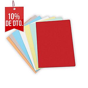 Pack de 50 subcarpetas  formato A4  cartulina azul pastel 180g2