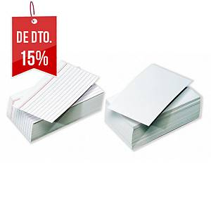 Pack 100 fichas de recarga Exacompta - 100 x 150 mm - pautado horizontal