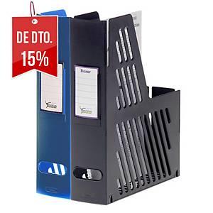 Porta-revistas Archivo 2000 2005-OP - plástico - lombada 75 mm - preto