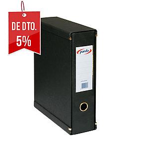 box1 Dossier pardo folio com 80 mm de lombada preto
