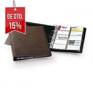 Porta-cartões Durable - 265 x 315 mm - 400 cartões - castanho