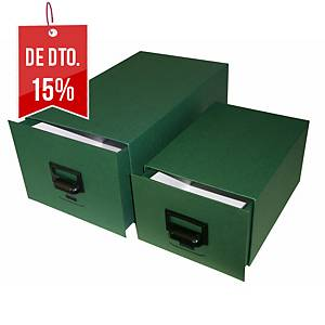 Arquivo de secretária Karman - cartão - 120 x95 x245 mm - 500 fichas - verde