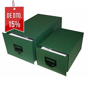 Arquivo de secretária Karman - cartão - 175 x125 x245 mm - 500 fichas - verde