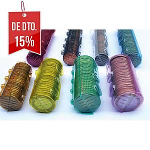 Pack de 100 bolsas para embalagem de moedas de 020 euros Cor laranja