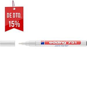 Marcador de pintura Edding 751 - ponta cónica 1-2 mm - branco
