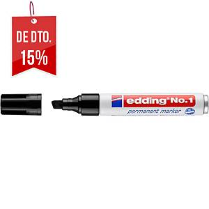 Marcador permanente Edding n.º 1 - ponta em bisel 1-5 mm - preto