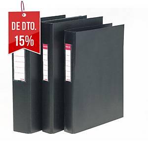 Dossier Esselte - fólio - 2 argolas - lombada 45 mm - preto